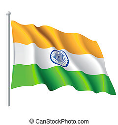 Flag of India - Vector illustration of flag of India