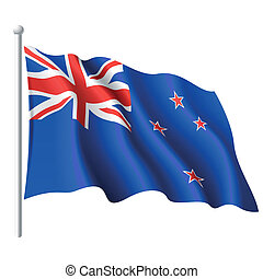 Flag of New Zealand - Vector illustration of flag of New...