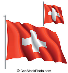 Flag of Switzerland - Vector illustration of flag of...
