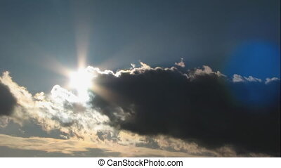 moody sky, sun timelapse