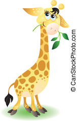 Cartoon giraffe - Cute animal character for your design