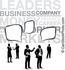 business people speech bubbles