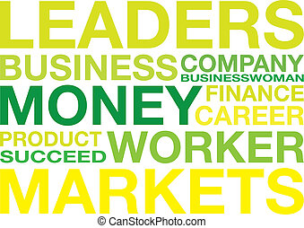 business background - business words background