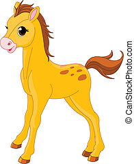 Cute Horse foal   - Illustration of cute Horse foal