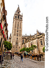 Spain, Sevilla, - Spain, Andalusia. The Cathedral of Santa...
