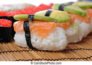 traditional Japanese sushi - fresh and tasty traditional...