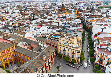 Spain, Sevilla, Cityscape - Cityscape and Skyline of Sevilla...