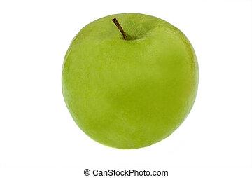 Green apple. Fruit for vitamins.