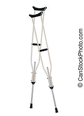 crutches - Vector illustration of crutches under the white...