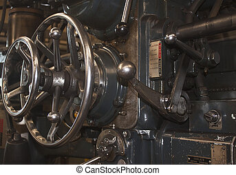 macro closeup of engineering machinery - macro closeup of an...