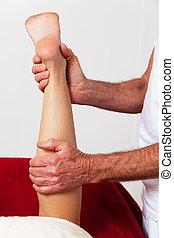 resto, relajación, por, masaje