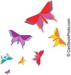 Spring Origami butterfly