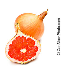 GMO Graponion - yellow onion with grapefruit fillings,...