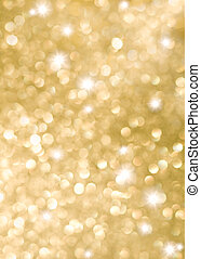 Abstract background of golden holiday lights