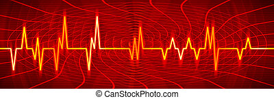 Vibrant colorful audio or pulse beat wave - Vibrant colorful...