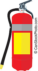 Fire extinguisher - Vector image of a fire extinguisher with...