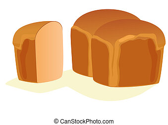 Bread - Bakery products on a white background.