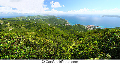 Sage Mountain National Park - View of Tortola from Sage...