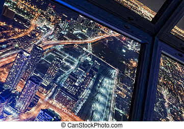 Toronto Skyline - View from the Skypod of the CN Tower -...