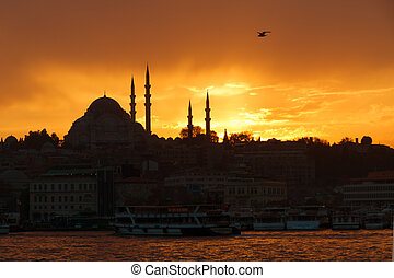 View of Sultanahmet by night, Istanbul - View of Sultanahmet...
