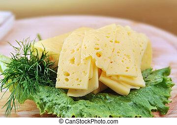 乳酪, 白色, 蔬菜, 新鮮
