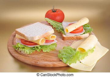 fresh and tasty sandwich