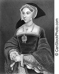 Jane Seymour 1508-1537 on engraving from 1838 Queen consort...