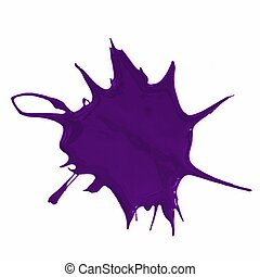 paint splatter - a purple paint splatter isolated on white...