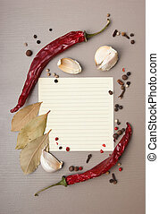 blank sheet for cooking recipes