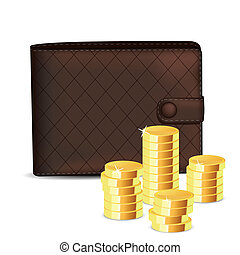 wallet with coin