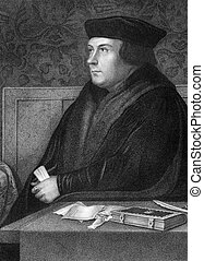 Thomas Cromwell, 1st Earl of Essex 1485-1540 on engraving...