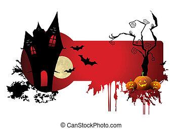 assustador, dia das bruxas, noturna