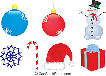 christmas vector clip-art - christmas and new year vector...