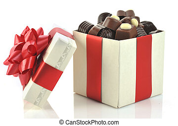 different chocolate in box - different chocolate in gift box