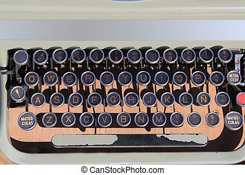 ancien aged typewriter vintage retro qwerty keyboard spanish