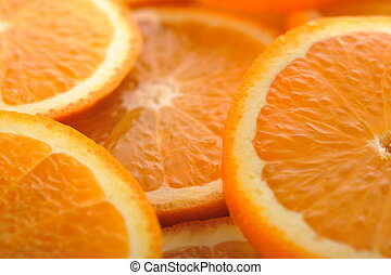 background made of juicy oranges - background made of sliced...