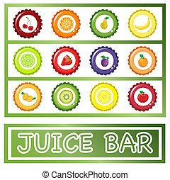 Juice Bar drinks menu - A menu template for fruit juice bar...