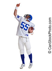 American football player cut out