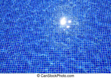 blue tiles swimming pool water reflection texture