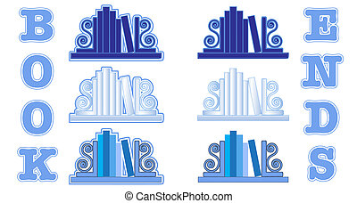Blue Bookend icons