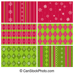 Set of Christmas Backgrounds for design