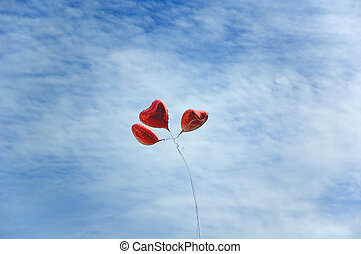 balloons in sky - heart like baloons in sky
