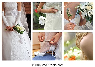 bride body parts - collage of bride body parts