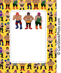 cartoon wrestler card