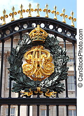 Emblem in Buckingham Palace - Emblem in the front gates of...