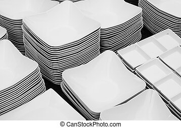 crockery - empty plates