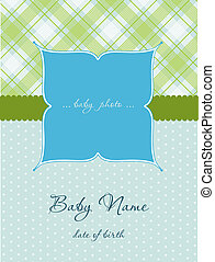 Baby Boy Arrival Card with Frame