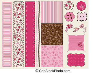 Scrapbook Flower Set