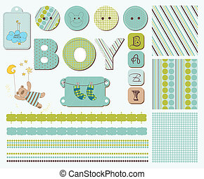 Baby Scrapbook Design Elements