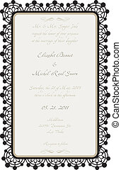 Wedding Card with Lace Details